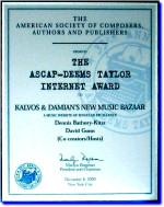 K&D Winner of 2000 ASCAP-Deems Taylor Award