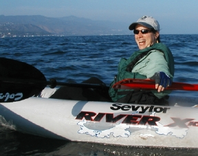Alex in the Kayak in Malibu 1